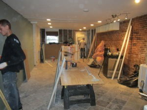 We were more fortunate than many as we could begin renovating within 2 weeks