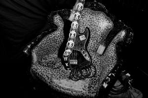 Gene's guitar met my fantasy chair...xo